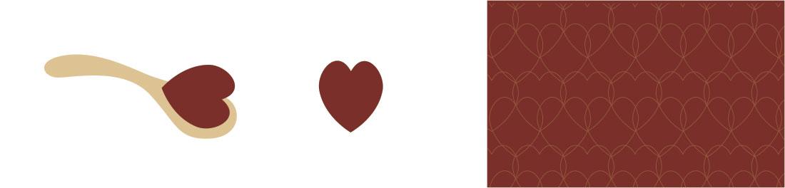 O símbolo do coração, presente na colher, serviu de elemento para a trama.